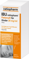 IBU RATIOPHARM Fiebersaft für Kinder 20 mg/ml