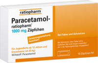 PARACETAMOL ratiopharm 1.000 mg Erw.-Suppositorien