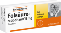 FOLSÄURE-RATIOPHARM 5 mg Tabletten